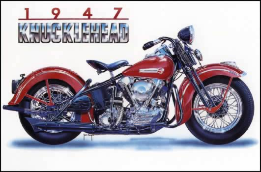 47 Knucklehead Painting By Jack Knight Artist